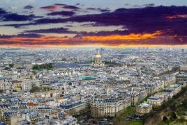 Panoramic view from the Eiffel Tower in Paris