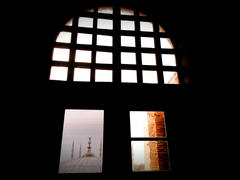 A view from the window in Hagia Sophia, Istanbul