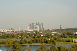 "View of the business center ""Moscow City"""