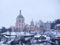 View of Trinity Monastery in Smolensk winter
