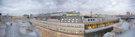 View over the roofs and the old Moscow office center