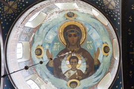 Frescos in an ancient Orthodox church were damaged from time