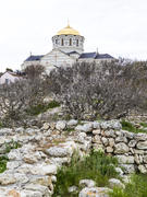 Orthodox church in a daylight in an ancient place