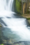 The falls on the river are pleasing to the eye of all travelers and strongly rustle